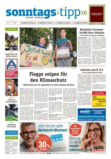 Sonntags-Tipp Achim-Verden vom 08.09.2019