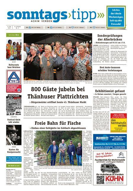 Sonntags-Tipp Achim-Verden vom 15.09.2019