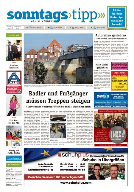 Sonntags-Tipp Achim-Verden vom 27.10.2019