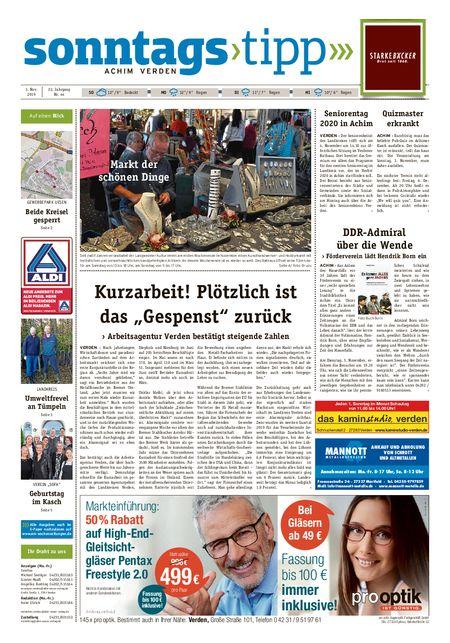 Sonntags-Tipp Achim-Verden vom 03.11.2019