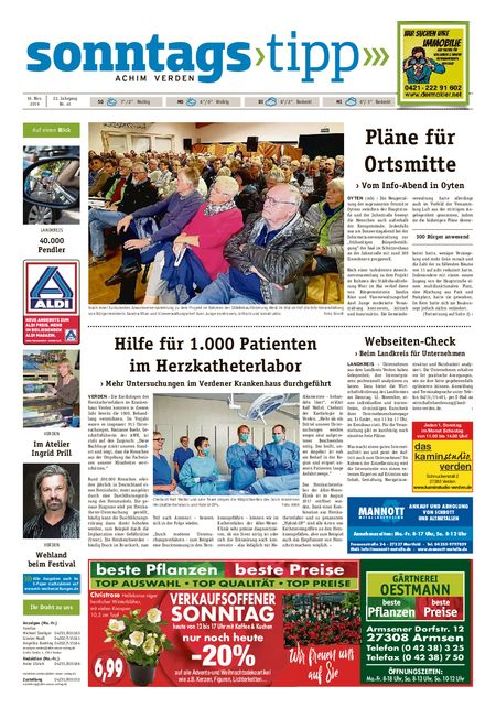 Sonntags-Tipp Achim-Verden vom 10.11.2019