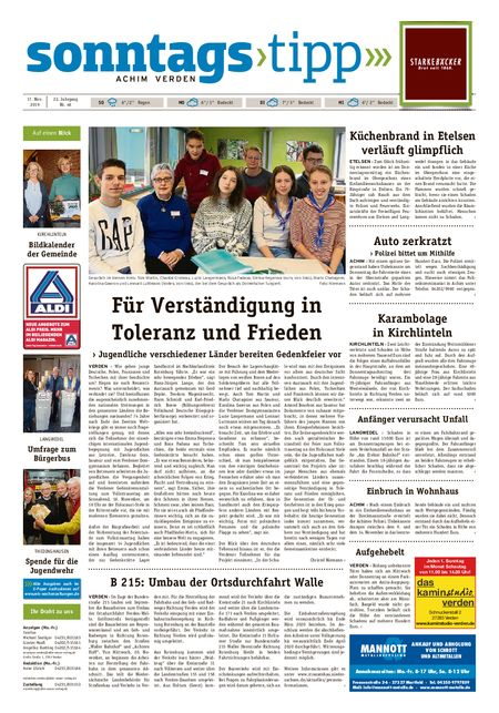 Sonntags-Tipp Achim-Verden vom 17.11.2019