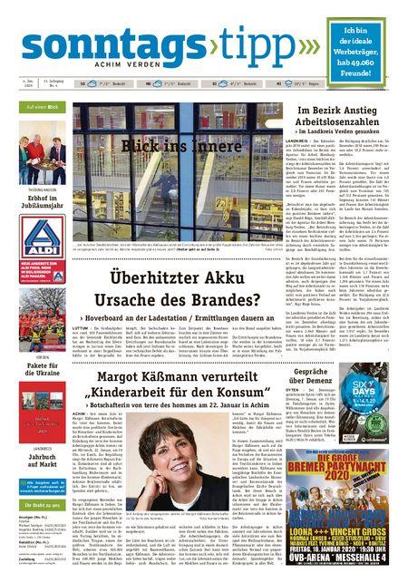 Sonntags-Tipp Achim-Verden vom 04.01.2020