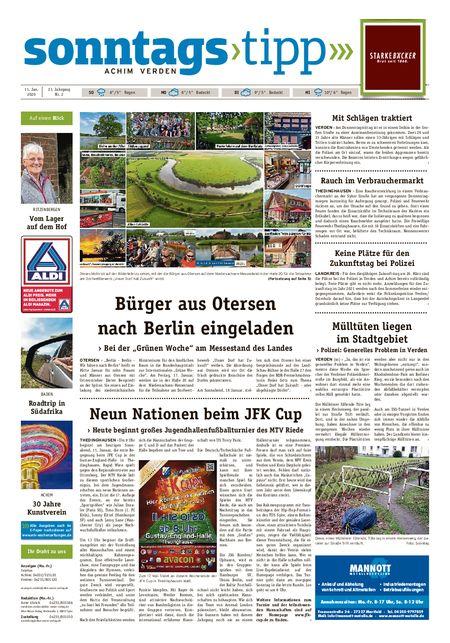 Sonntags-Tipp Achim-Verden vom 11.01.2020