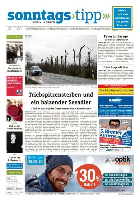 Sonntags-Tipp Achim-Verden vom 01.02.2020