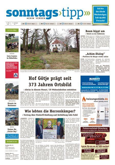Sonntags-Tipp Achim-Verden vom 15.02.2020