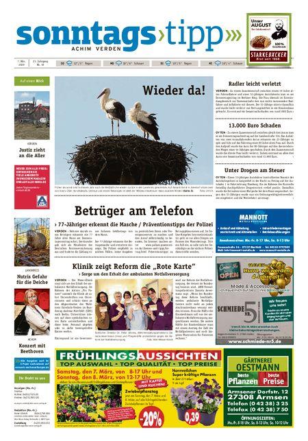 Sonntags-Tipp Achim-Verden vom 07.03.2020