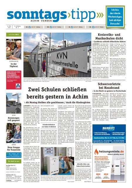 Sonntags-Tipp Achim-Verden vom 14.03.2020