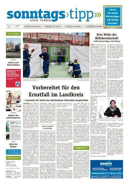 Sonntags-Tipp Achim-Verden vom 28.03.2020