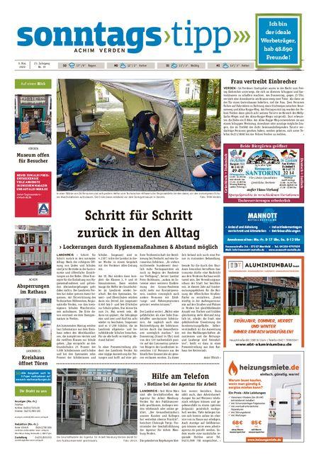 Sonntags-Tipp Achim-Verden vom 09.05.2020