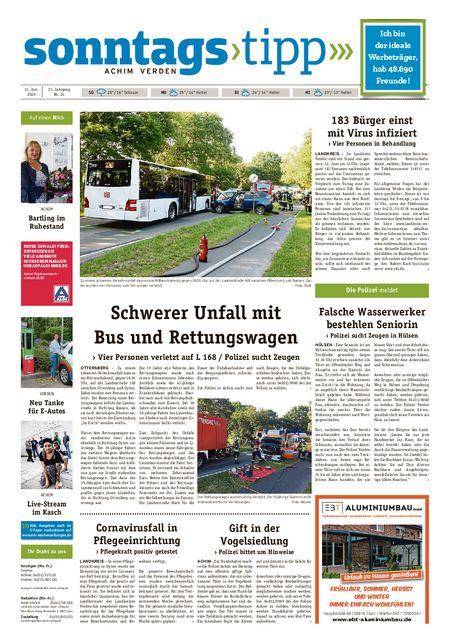Sonntags-Tipp Achim-Verden vom 13.06.2020