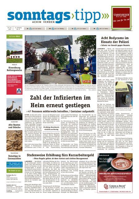 Sonntags-Tipp Achim-Verden vom 20.06.2020