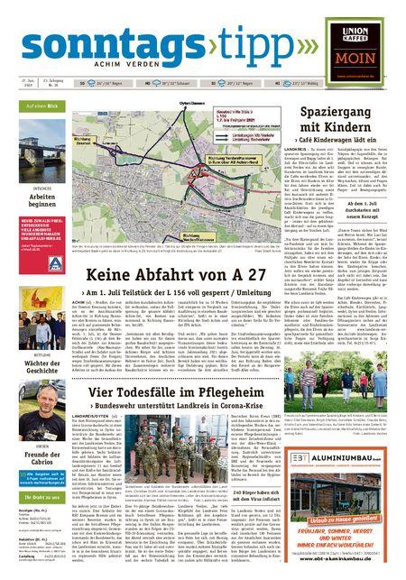 Sonntags-Tipp Achim-Verden vom 27.06.2020