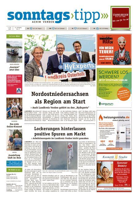 Sonntags-Tipp Achim-Verden vom 04.07.2020
