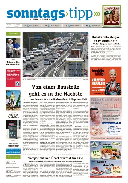 Sonntags-Tipp Achim-Verden vom 18.07.2020