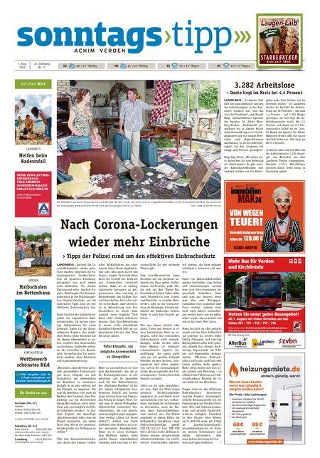 Sonntags-Tipp Achim-Verden vom 01.08.2020