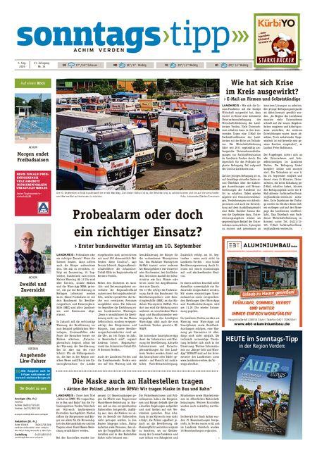 Sonntags-Tipp Achim-Verden vom 05.09.2020