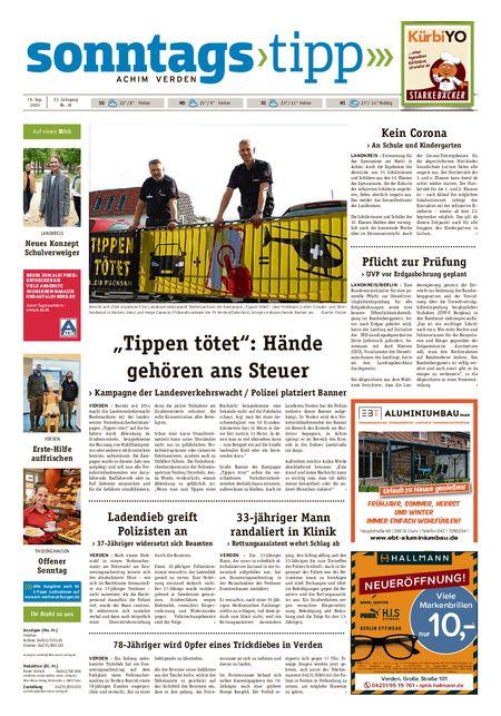 Sonntags-Tipp Achim-Verden vom 19.09.2020
