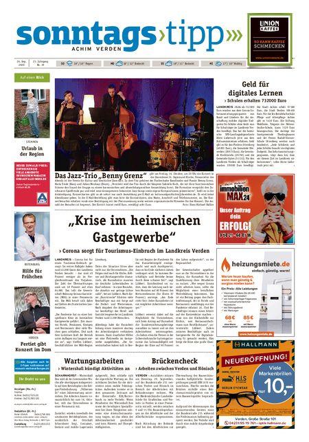 Sonntags-Tipp Achim-Verden vom 26.09.2020