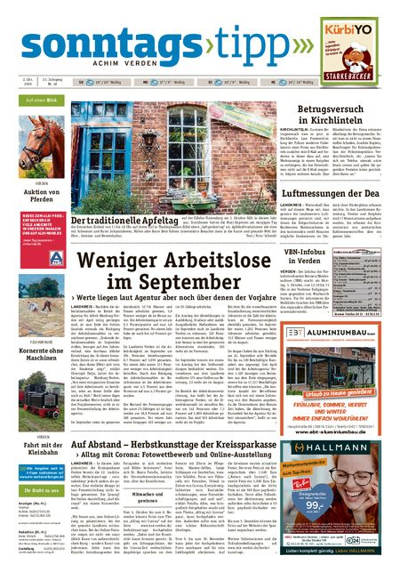 Sonntags-Tipp Achim-Verden vom 02.10.2020