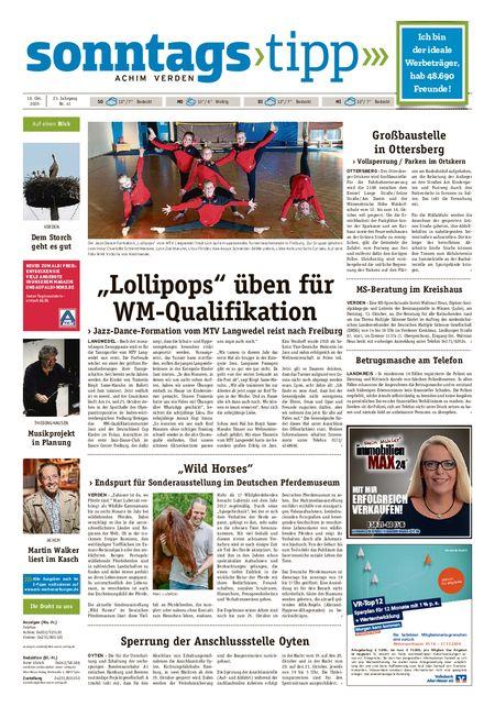 Sonntags-Tipp Achim-Verden vom 10.10.2020