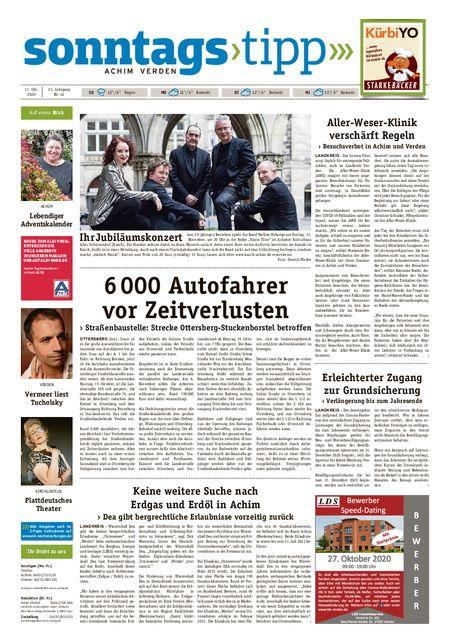 Sonntags-Tipp Achim-Verden vom 17.10.2020