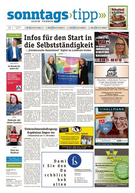 Sonntags-Tipp Achim-Verden vom 07.11.2020