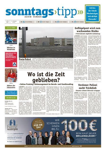 Sonntags-Tipp Achim-Verden vom 14.11.2020