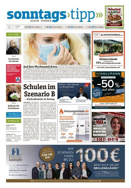 Sonntags-Tipp Achim-Verden vom 21.11.2020