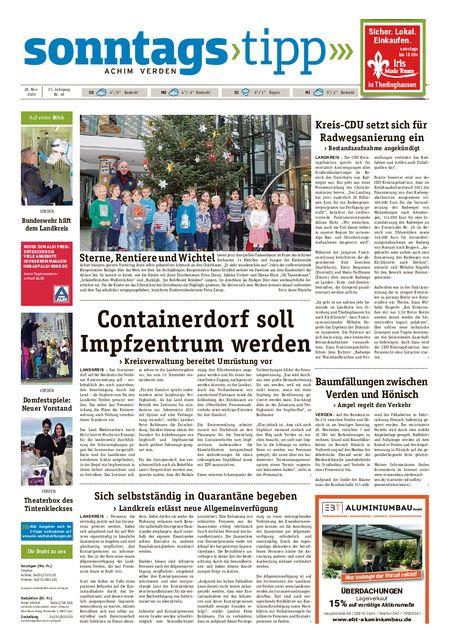 Sonntags-Tipp Achim-Verden vom 28.11.2020