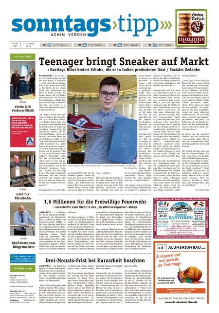 Sonntags-Tipp Achim-Verden vom 24.12.2020