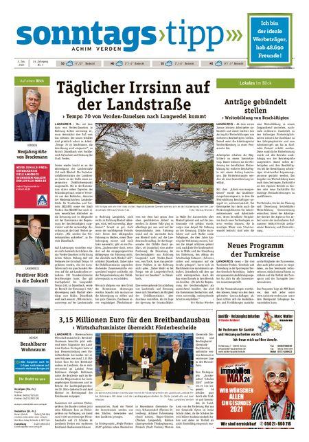 Sonntags-Tipp Achim-Verden vom 02.01.2021