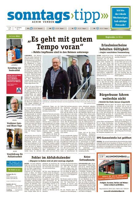 Sonntags-Tipp Achim-Verden vom 09.01.2021