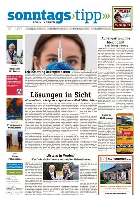 Sonntags-Tipp Achim-Verden vom 20.03.2021