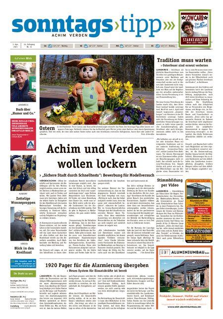 Sonntags-Tipp Achim-Verden vom 03.04.2021