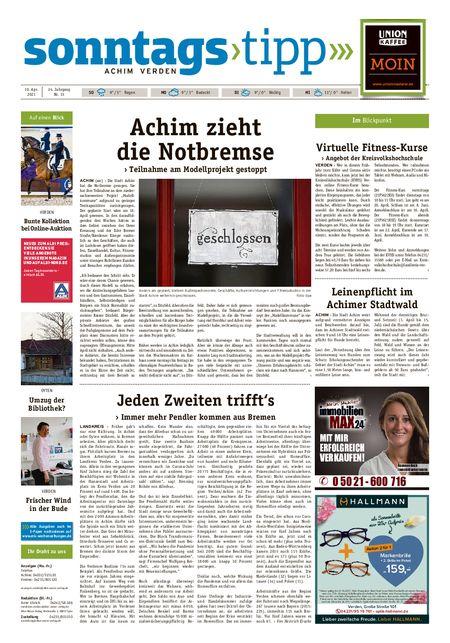 Sonntags-Tipp Achim-Verden vom 10.04.2021