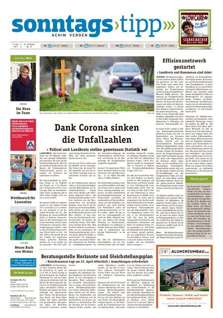Sonntags-Tipp Achim-Verden vom 17.04.2021