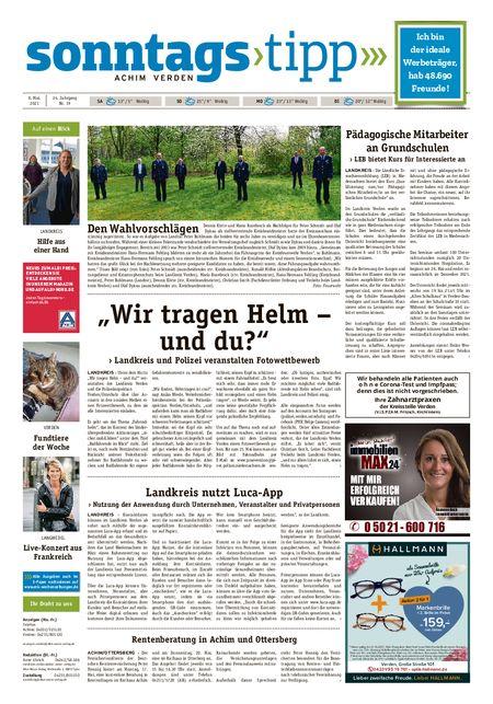 Sonntags-Tipp Achim-Verden vom 08.05.2021