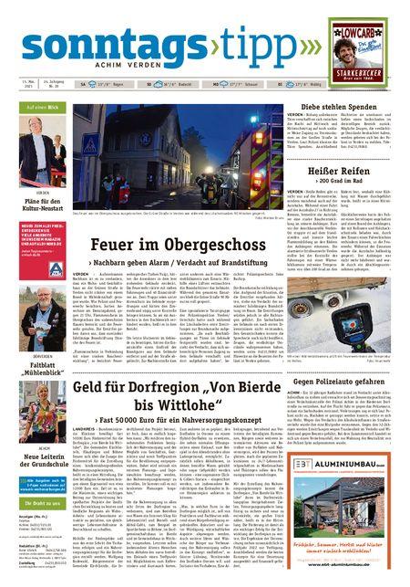 Sonntags-Tipp Achim-Verden vom 15.05.2021