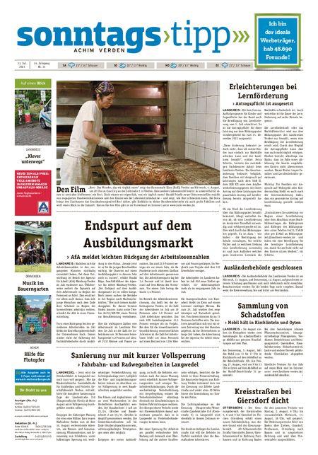 Sonntags-Tipp Achim-Verden vom 31.07.2021