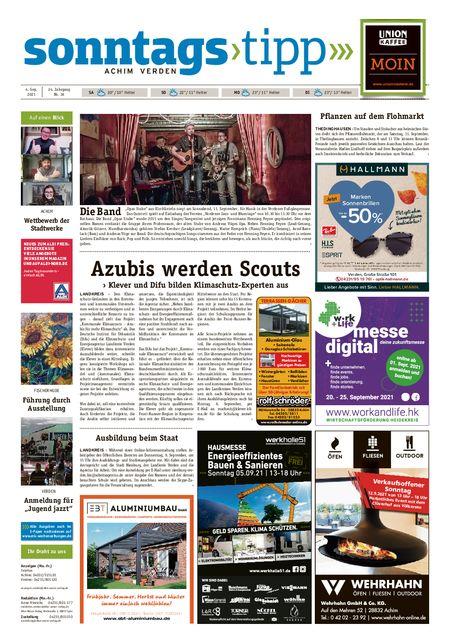 Sonntags-Tipp Achim-Verden vom 04.09.2021