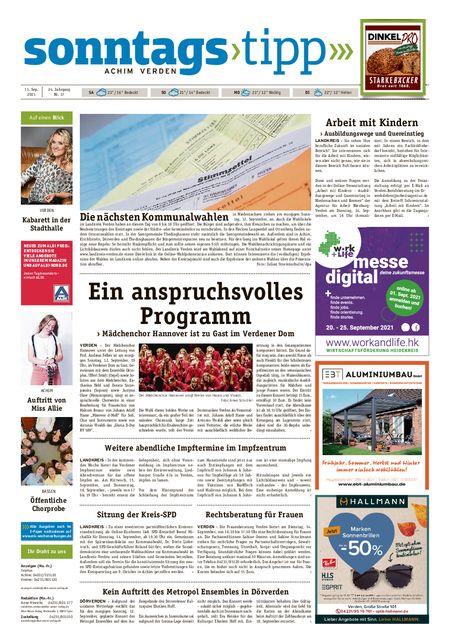 Sonntags-Tipp Achim-Verden vom 11.09.2021