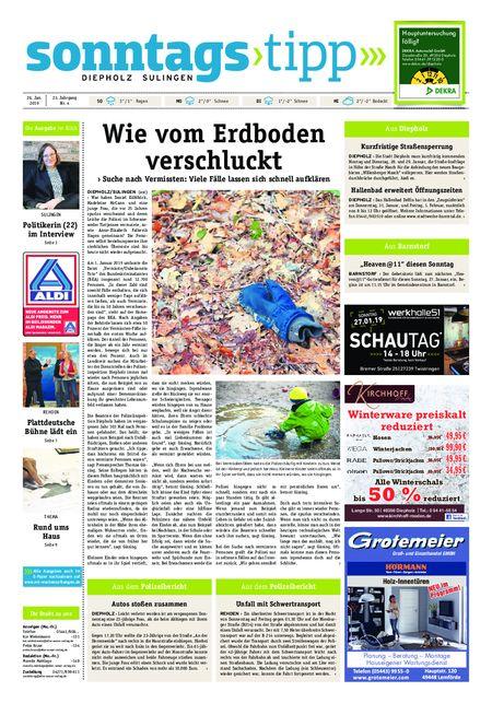 Sonntags-Tipp Diepholz-Sulingen vom 26.01.2019