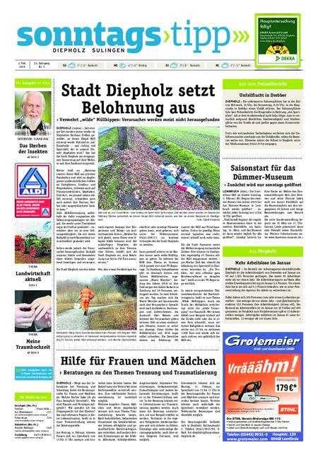 Sonntags-Tipp Diepholz-Sulingen vom 02.02.2019