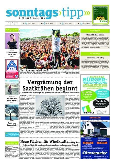 Sonntags-Tipp Diepholz-Sulingen vom 09.02.2019