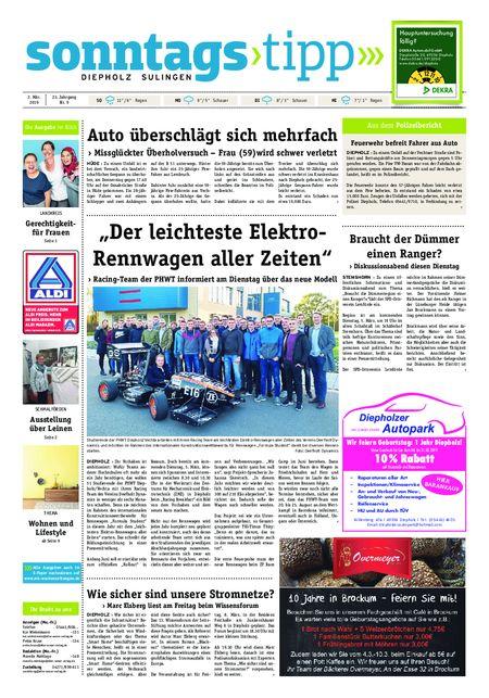Sonntags-Tipp Diepholz-Sulingen vom 02.03.2019