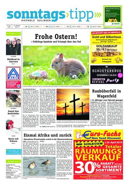 Sonntags-Tipp Diepholz-Sulingen vom 20.04.2019