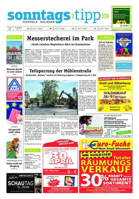 Sonntags-Tipp Diepholz-Sulingen vom 27.04.2019