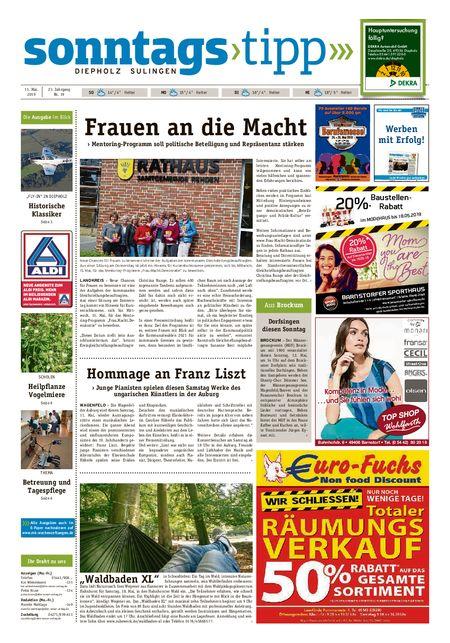 Sonntags-Tipp Diepholz-Sulingen vom 11.05.2019