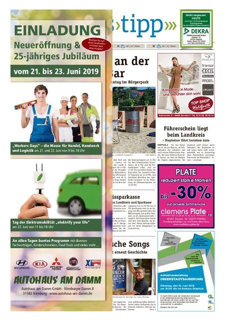 Sonntags-Tipp Diepholz-Sulingen vom 15.06.2019